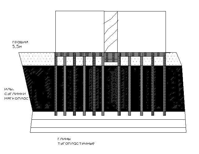 Рис. 1 Схема фундаментов