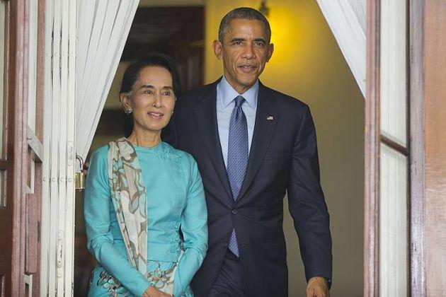 Обама обещал снять санкции сМьянмы