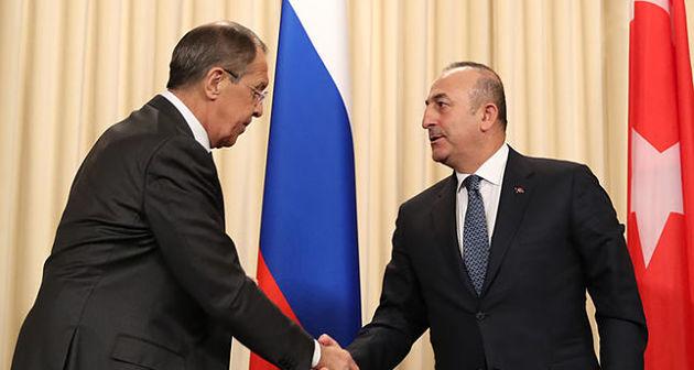 Лавров обсудил сЧавушоглу меры попрекращению военных действий вСирии