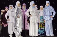 Показ мусульманской моды в Казахстане