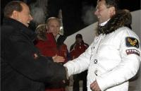 Берлускони тайно встретился с Медведевым и Путиным