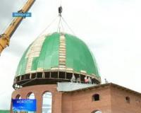 В Белорецке установили купол на соборную мечеть
