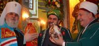 Мухаммедгали Хузин и Сибагатулла Сайдулин встретили Светлую Пасху в храме с митрополитом