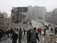 Число жертв ракетного обстрела Алеппо приближается к 60-ти