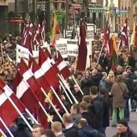 Полиция оцепила площадь в Риге в связи с шествием бывших эсэсовцев