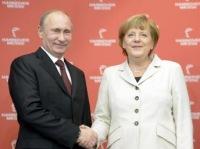 «В Германии Путина встретили протестами»