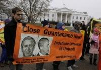 Митинг протеста в Нью-Йорке и Вашингтоне в поддержку закрытия тюрьмы Гуантанамо
