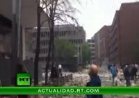 Первое видео с места взрыва в Осло