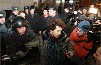 На Триумфальной были задержаны около 60 участников несанкционированной акции