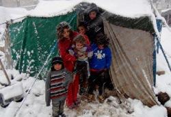 Дети в Сирии умирают от холода