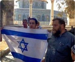Сионистскую бело-голубую мануфактуру «поселенцы» пытались пронести в Аль-Аксу