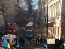 Киев. На Шелковичной раздаются взрывы