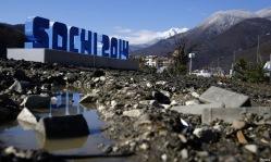 Сочи 2014 - 2 дня до олимпиады: горы мусора, строительная техника, массовая покраска травы