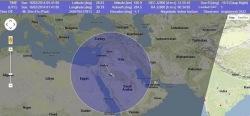Эффектное падение российского искуственного спутника над Саудией утром, 16 февраля