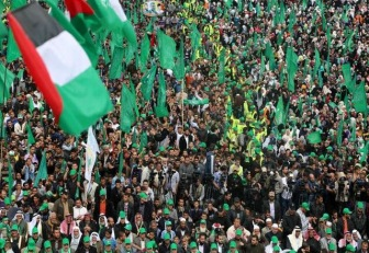 ХАМАС провел митинг в память шейха Ясина