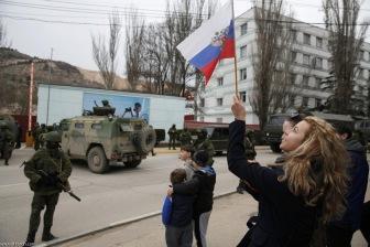 Российская армия входит в Крым