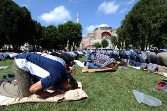 Эрдоган совершит намаз в Айя-Софии