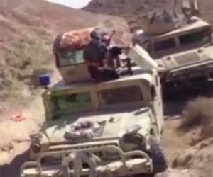 Видео: часть боевой техники захваченных повстанцами в Салах эд-дине