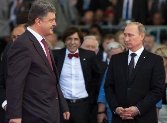Владимир Путин и Пётр Порошенко встретились