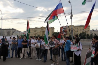 В Москве прошел митинг протеста против израильской агрессии в Палестине