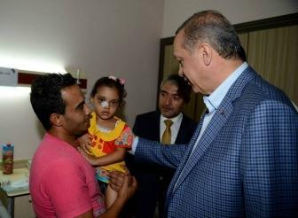 Эрдоган посетил раненых палестинцев