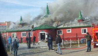 В Новом Уренгое сгорело здание медресе
