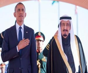Король Саудовский Сальман прервал церемонию приема Барака Обамы