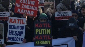 В Стамбуле состоялась акция протеста против убийств мухаджиров