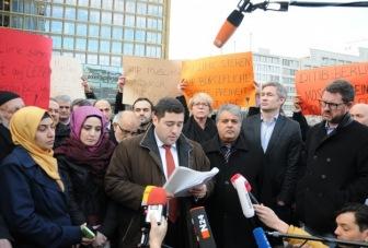 Мусульмане Германии вышли на митинг в поддержку СМИ