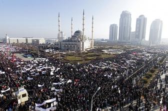 Митинг в Чечне
