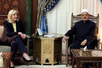 Главный исламофоб Франции Ле Пен в гостях у имама Аль-Азхара Ахмеда ат-Тайиба