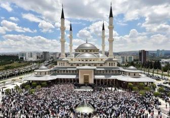 Впервые в резиденции турецких президентов открыта мечеть