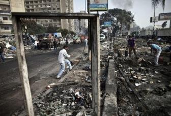 Гибель людей на площади Рабия и пропаганда египетской власти
