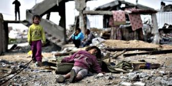 Дети, спящие в руинах! Главы государств! Снимите блокаду с Газы!