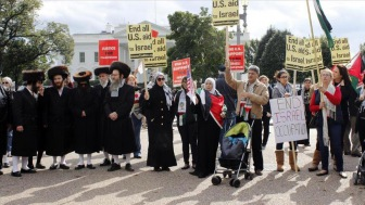 Акция протеста в Вашингтоне против насилия Израиля в отношении палестинцев