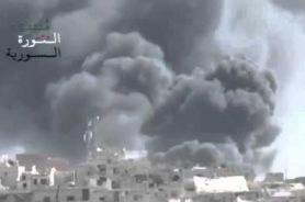 Видео: российская авиация нанесла удар по мечети Умара ибн аль-Хаттаба