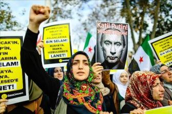 В Стамбуле прошел митинг против российской агрессии в Сирии