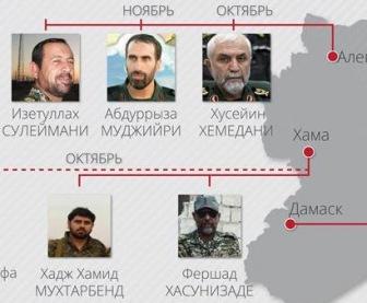 В Сирии убито 9 иранских генералов