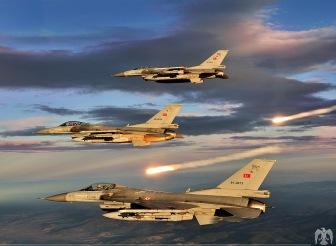 Турция впервые применила авиацию в Сирии