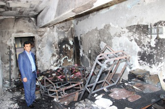 В Нусайбине боевики из РКК сожгли школу
