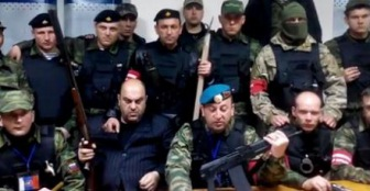 Крымский татарин был сожжен рядом с национальным флагом