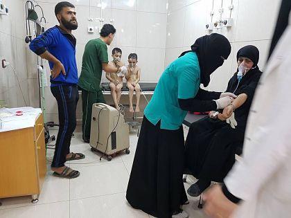 Алеппо: химическая атака и удар по мечети