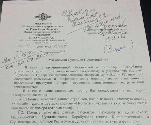 Черные списки в дагестанских ВУЗах