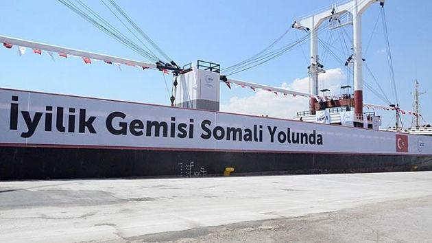 Сомали получило от Турции продовольственную помощь