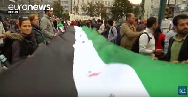 Демонстрации солидарности с Алеппо прошли по миру